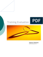 Concepts of Effective Training Evaluation