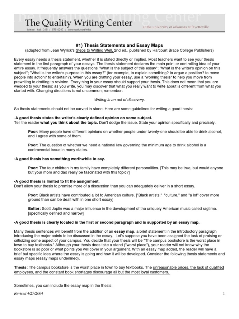 01 thesis statements and essay maps essays thesis