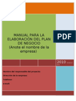 Manual Plan de Negocios