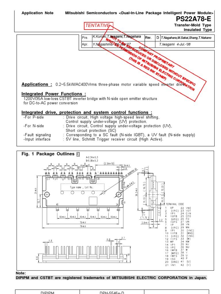 Ps22a78 E Power Inverter Resistor Figure 1 Circuit Diagram For Level Shifter