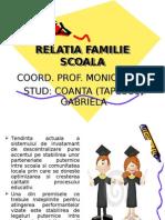 RELATIA FAMILIE SCOALA