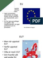 1 Vad är EU