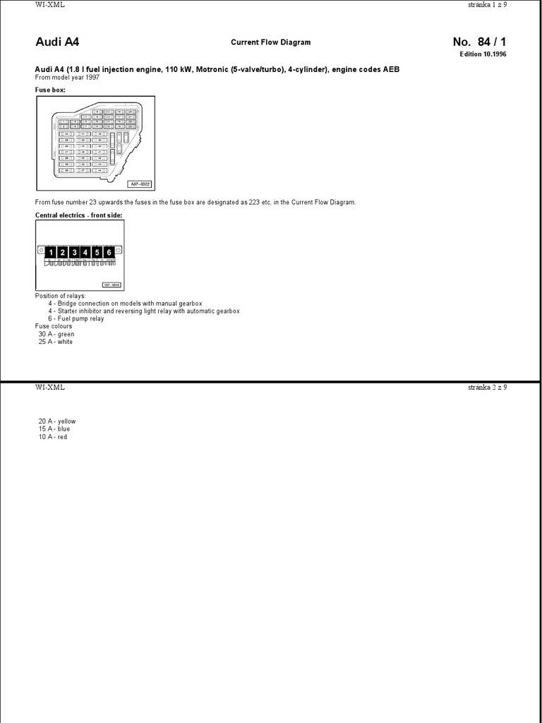 Aeb A4 Od1997 Schema Motora Fuel Injection Ignition System Audi 4 2 Engine Diagram Front