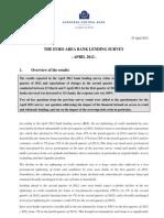 Euro Area Bank Lending Survey April 2012