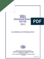 MBA Part-Time Handbook 10-13 (Delhi)