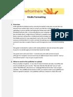 Kindle Formatting