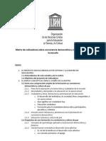 UNESCO - Matriz de Indicadores Sobre Convivencia Escolar