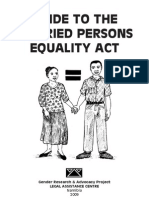 Guide to the Maried Persons Equality Act of 1996
