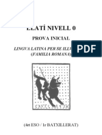 Prova Inicial 1r Batxillerat / 4rt ESO