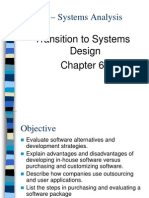Chapter 6 -- Transition to System Design