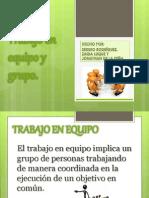 Trabajo en equipo y en grupo Hecho por Sergio Rodríguez, Zaida Luque y Jonathan de la Peña.
