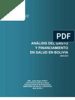 Julien Dupuy - Análisis del gasto y financiamiento en salud en Bolivia 2003-2010
