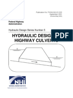 Hydrualic Design of Culvert