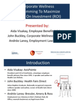 Corporate Wellness Programming to Maximize ROI