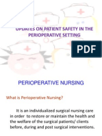 Updates on Patient Safety in the Perioperative Setting