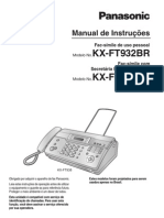 Manial Do Fax Panasonic Modelo Kx-ft932br-b