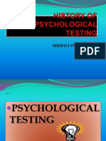 History of Psychological Testing