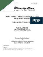 Laboratory Analyses Manual