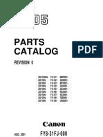 Parts Catalog iR105