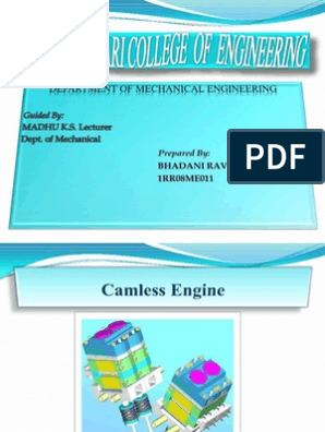 Camless Engine Presentation | Internal Combustion Engine