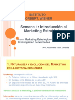 Semana 1 - Introducción al Marketing Estratégico