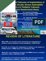 Dr Suresh K Pandey SuVi Eye Kota India ASCRS Chicago 2012 Presentation