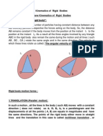 LEC. (1)-Kinematics of Rigid Bodies-Definitions-Translation-Rotational Motion-Examples