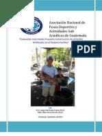 Evaluación Intermedia Proyecto Construcción de Arrecifes Artificiales en el Océano Pacífico de Guatemala