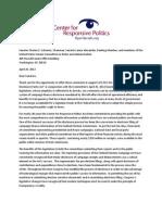 CRP Senate Rules Committee E-Filing Testimony