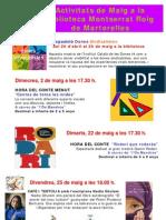 Guia d'activitats de la Biblioteca Montserrat Roig de Martorelles (maig 2012)