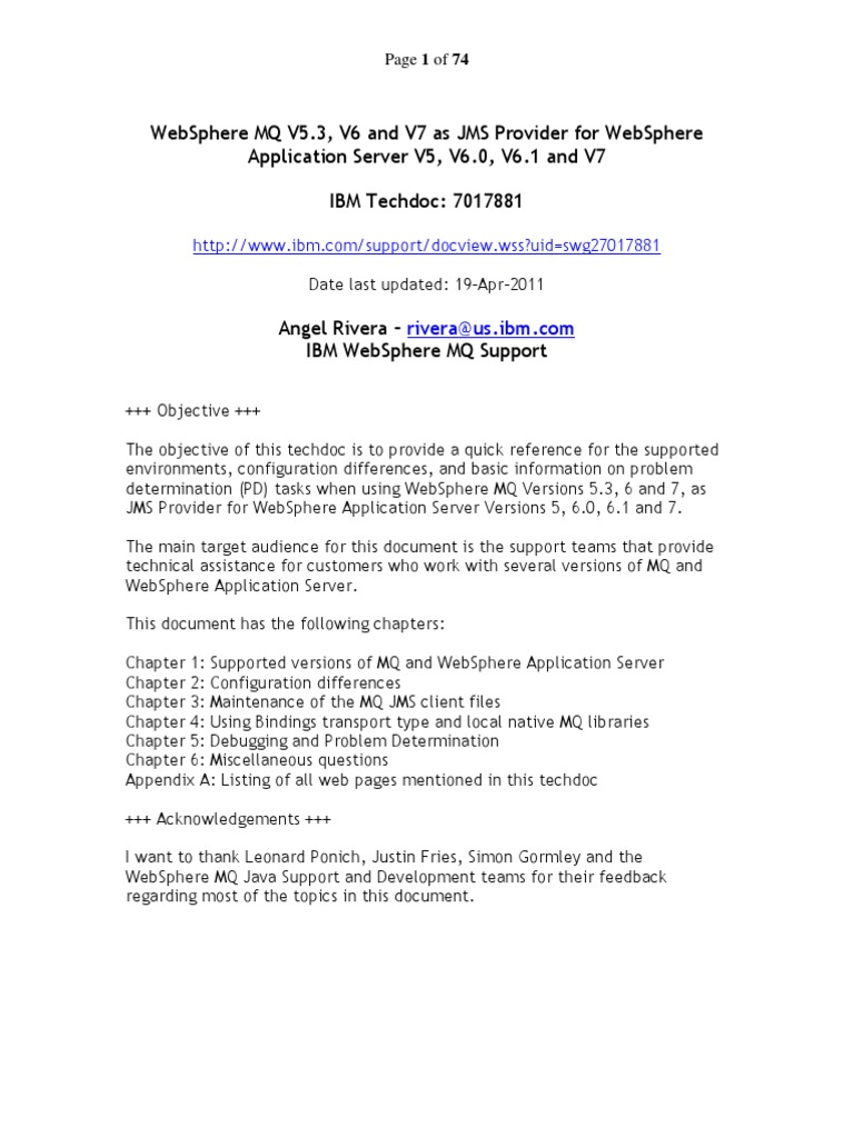 Mq Versions | Java (Programming Language) | Library (Computing)
