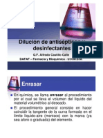 Dilución de antisépticos y desinfectantes