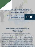 GERENCIA de produccion