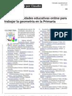 Mas 120 Actividades Educativas Online Para Trabajar La Geometria en La Primaria