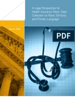 A Legal Perspective for Health Insurance Plans Data Collection on Race, Ethnicity, And Primary Language