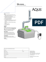 Www.watersavertech.com AQUS Specifications Sheet