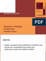 Comunicação - Planejar gêneros acadêmicos