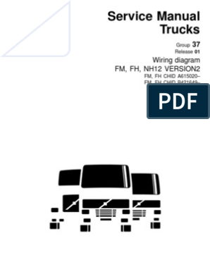 20046394 Wiring Diagram Fm Fh Nh12 Version2 | Electrical Connector |  Machines | Volvo Fh12 Version 2 Wiring Diagram |  | Scribd