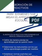 ELABORACIÓN DE REACTIVOS - sintetizado