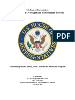 4 25 12 Staff Report Uncovering Waste Fraud and Abuse in the Medicaid Program