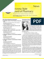 Arizona Board of Pharmacy January 2012