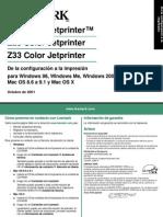 Lexmak Z13 Manual Spsetup