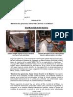 Boletín 031_ Día Mundial de la Malaria
