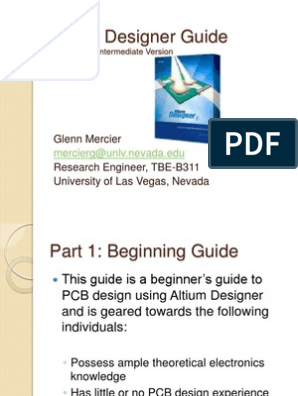 Altium Designer Intermediate Guide   Printed Circuit Board