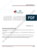 Aieee Achiever 3-Solutions