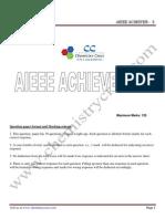 Aieee Achiever 3-Solutions