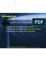 00 - Introduction of 21 Laws of Leadership