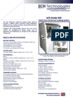MACCS 400 Version 2 Multi Axis Conformal Coating System for application of conformal coating materials