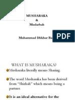 Musharakah & Mudarbah