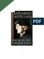 ESENCIA DEL LIBERALISMO- LEONARDO CASTELLANI